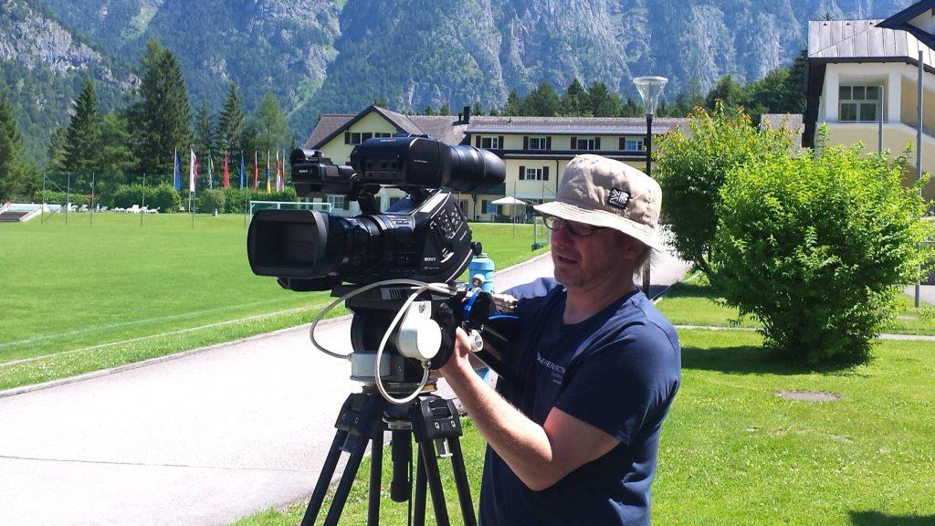 Dreharbeiten Bundessportzentrum Obertraun
